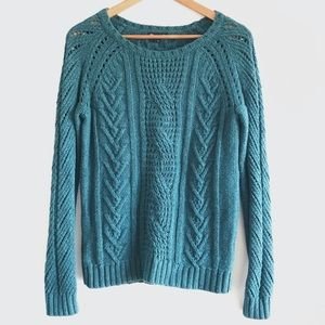 Gap Cable Knit Blue Sweater - M